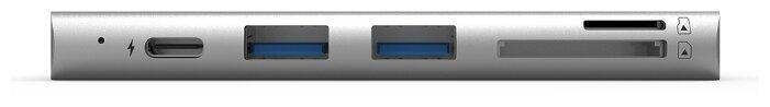 Многопортовый адаптер Adam Elements CASA 5E серый