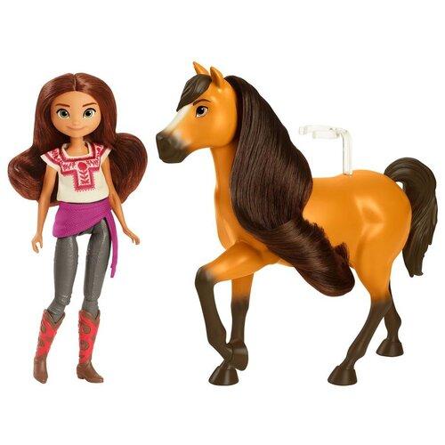 Купить Кукла Spirit с лошадью Лаки и Спирит, 18 см, GXF21, Куклы и пупсы