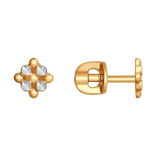 SOKOLOV Серьги из золота с алмазной гранью 027744 фото