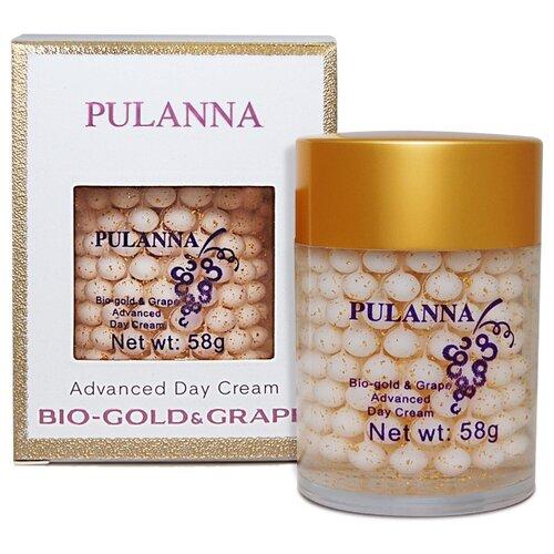 PULANNA Bio-gold & Grape Advanced Day Cream Дневной защитный крем для лица на основе био-золота и винограда, 58 г набор pulanna grape cosmetics set
