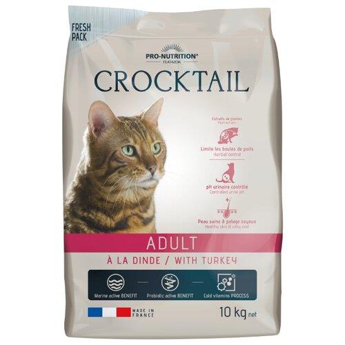 Сухой корм для кошек Flatazor для вывода шерсти, для здоровья кожи и блеска шерсти, с курицей, с уткой, с индейкой, с свининой 10 кг