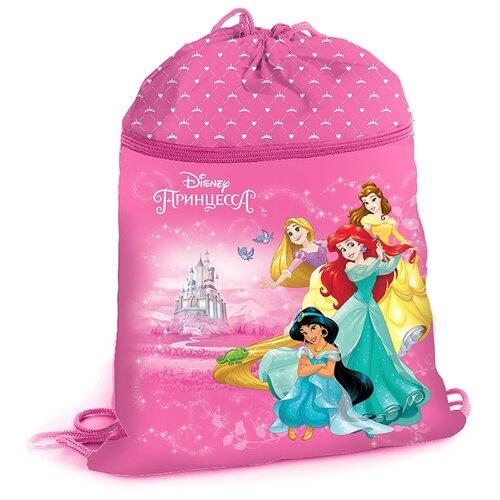 Купить Hatber Мешок для сменной обуви Принцессы (NMn_81012) розовый, Мешки для обуви и формы