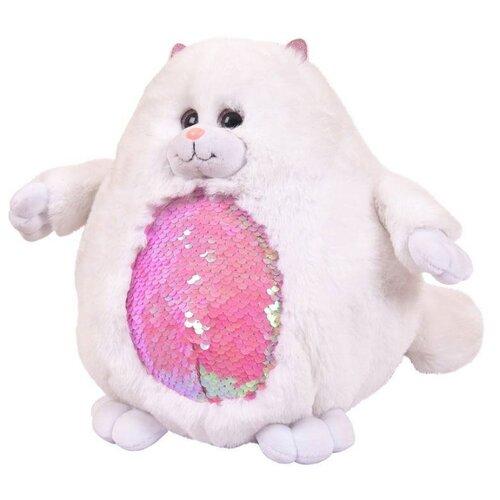 Купить Мягкая игрушка ABtoys Кошка с пайетками 20 см, Мягкие игрушки