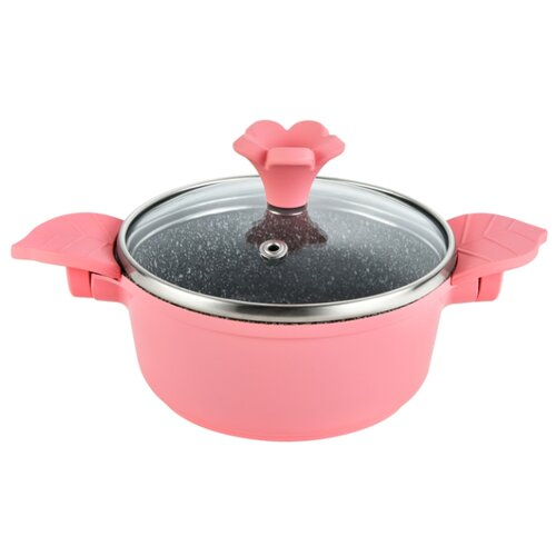 Кастрюля GIPFEL Werner Mini 0,5 л, розовый кастрюля gipfel werner malta 3 1 л черный