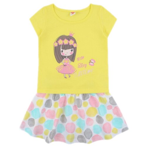 Комплект одежды Optop размер 104, бледно-желтый, круги на сахаре комплект одежды optop размер 134 бледно желтый круги на сахаре