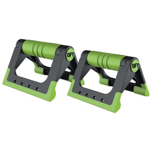 Упоры дуговые Original FitTools FT-PUB черный/зеленыйУпоры для отжиманий<br>
