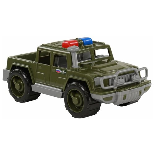 Купить Внедорожник Полесье пикап патрульный Защитник РФ (69221) 31 см зеленый, Машинки и техника