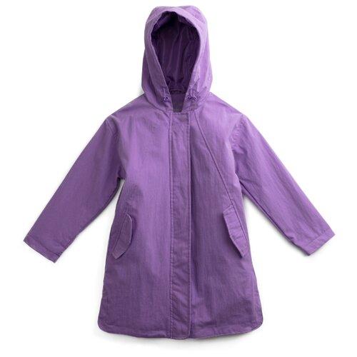 Купить Плащ playToday Акварелька 192022 размер 98, фиолетовый, Пальто и плащи