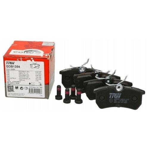 Дисковые тормозные колодки задние TRW GDB1354 для Ford Fiesta, Ford Focus (4 шт.) фото