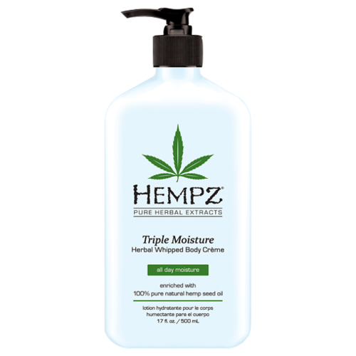 Молочко для тела Hempz Тройное увлажнение, 500 мл hempz triple moisture herbal whipped creme body scrub скраб для тела тройное увлажнение 176 гр