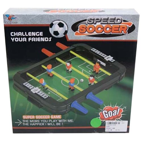 Настольный футбол Наша Игрушка игровое поле 16*23 см, мяч 2 шт, коробка (2158)