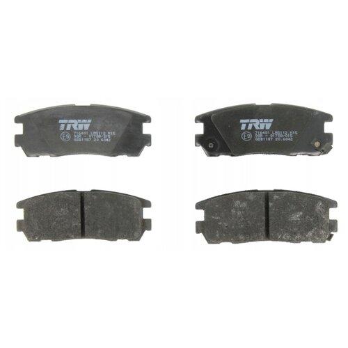 Дисковые тормозные колодки задние TRW GDB1187 для Great Wall, Isuzu, Opel (4 шт.) фото
