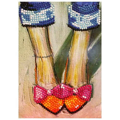 Купить Алмазная открытка Color Kit Моей подруге 13х18 AZ004, Алмазная мозаика