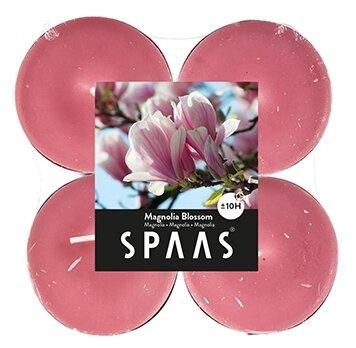 Набор свечей Spaas Maxi Magnolia Blossom розовый 4 шт.