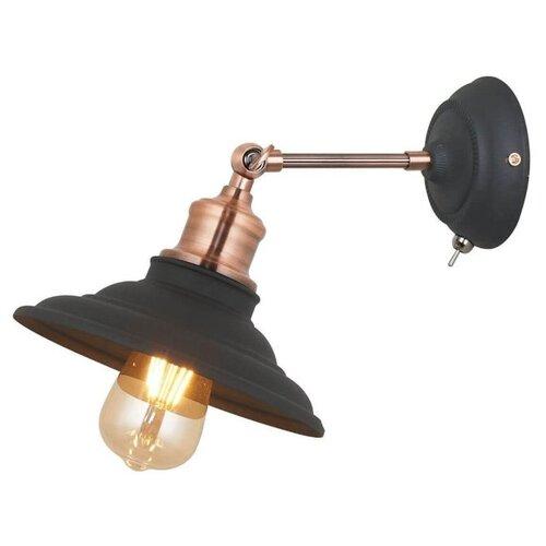 Бра Arte Lamp Lido A5067AP-1BK, с выключателем, 60 Вт спот arte lamp a5067ap 1bk