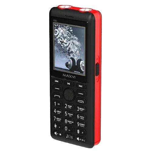 Фото - Телефон MAXVI P20 черный / красный телефон maxvi x650 красный
