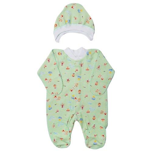 Купить Комплект одежды Клякса размер 20-62, зеленый, Комплекты