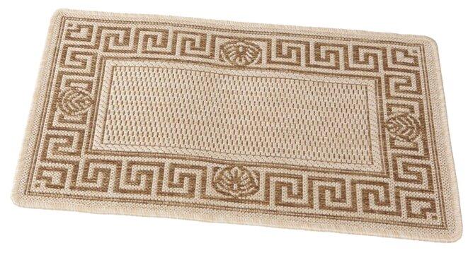 Придверный коврик RemiLing Джут 1, размер: 0.8х0.5 м, бежевый/коричневый