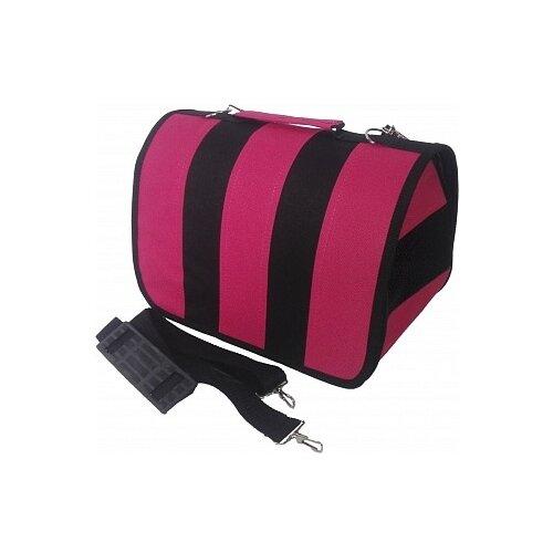 Сумка-переноска для кошек и собак LOORI Z8685/Z8722 31х20х22 см розовый