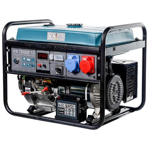 цена на Бензиновый генератор K&S Könner & Söhnen KS 7000E-1/3 (5000 Вт)