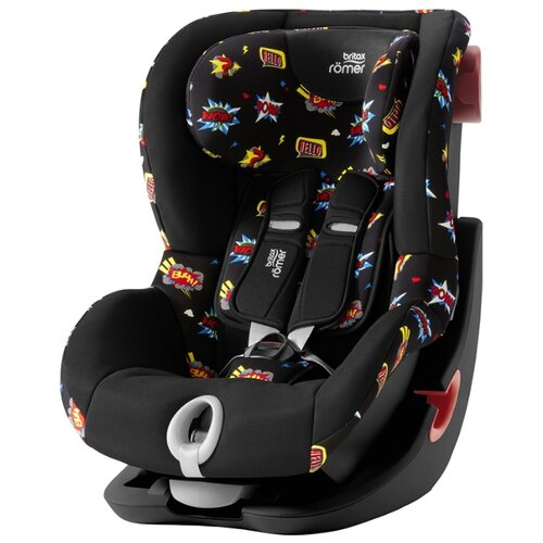 Автокресло группа 1 (9-18 кг) BRITAX ROMER King II, comic fun black series автокресло britax romer king ii black series wine rose trendline