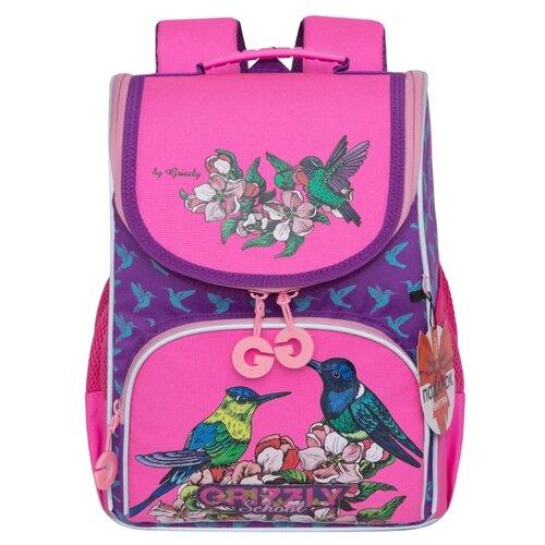Купить Grizzly Ранец RAm-084-3/2, фиолетовый, Рюкзаки, ранцы