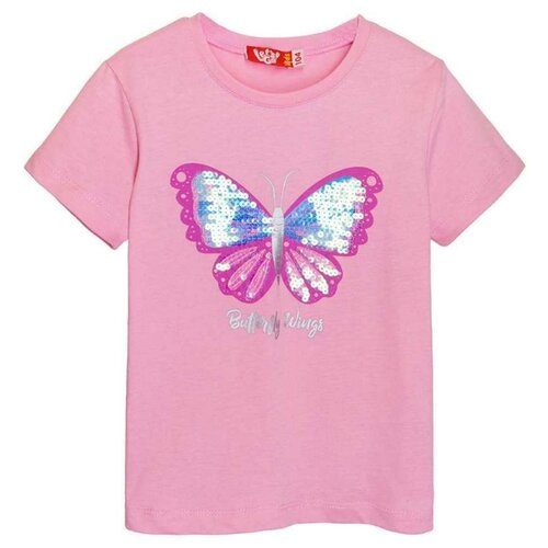 Купить Футболка Let's Go, размер 92, розовый, Футболки и рубашки