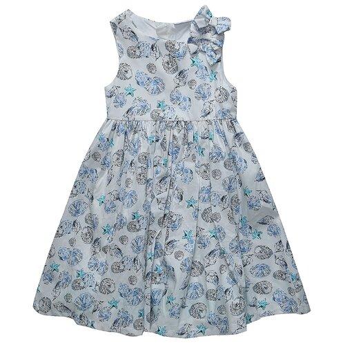 Платье Sweet Berry размер 140, белый-голубойПлатья и сарафаны<br>