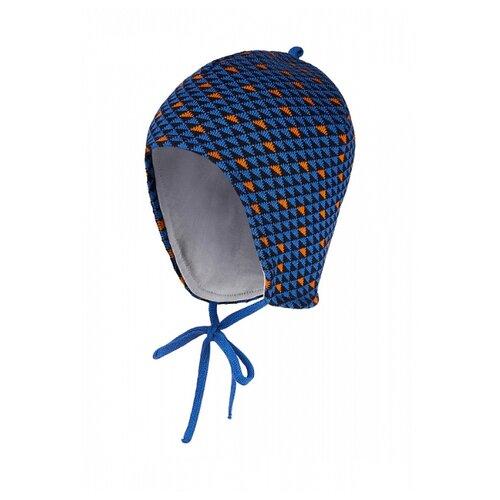 Купить Шапка Oldos размер 48-50, синий/оранжевый, Головные уборы