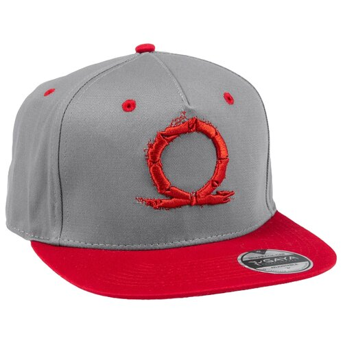 Бейсболка Gaya God of War Snapback Serpent Logo размер one size, серый/красный