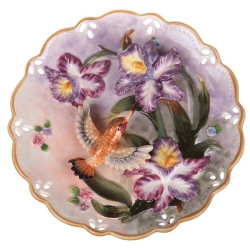 Тарелка декоративная настенная Lefard 59-384, 20 см фиолетовый тарелка lefard 23 см белый