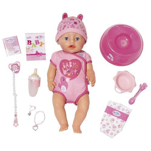 Фото - Интерактивная кукла Zapf Creation Baby Born 43 см 824-368 zapf creation baby born одежда джинсовая коллекция 824 498 джинсовый сарафан белая маечка