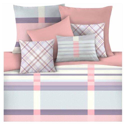 цена Постельное белье 1.5-спальное Mona Liza Kleo 70 х 70 см сатин голубой / розовый онлайн в 2017 году