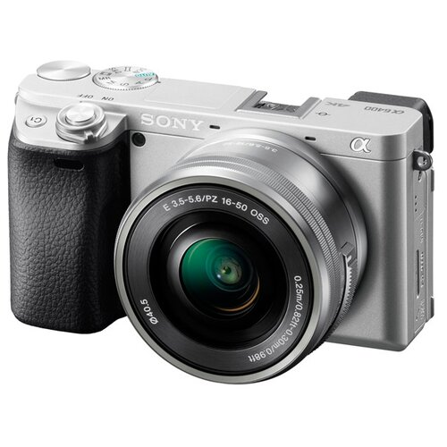 Фотоаппарат Sony Alpha ILCE-6400 Kit серебристый E PZ 16–50 мм F3.5–5.6 OSS (SELP1650)