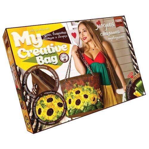 Купить Danko Toys Набор для вышивания лентами и бисером Fashion Bag Подсолнухи (MCB-01-03), Наборы для вышивания