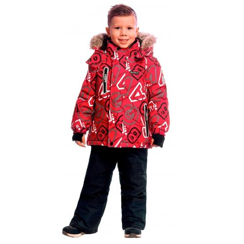 Комплект с полукомбинезоном Premont Эй Би Си WP92260 размер 120, red си си крем купить