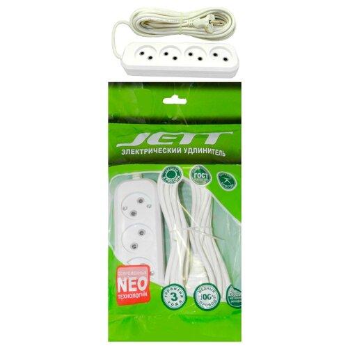 Удлинитель Jett 155-405 РС-4 (провод ПВС 2х0.75) , 5 мУдлинители и сетевые фильтры<br>