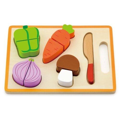 Купить Набор продуктов с посудой Viga 50979 разноцветный, Игрушечная еда и посуда