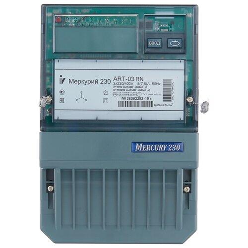 Фото - Счетчик электроэнергии трехфазный многотарифный INCOTEX Меркурий 230 ART-03 RN 5(7.5) А счетчик электроэнергии однофазный многотарифный incotex меркурий 206 rn 5 60 а