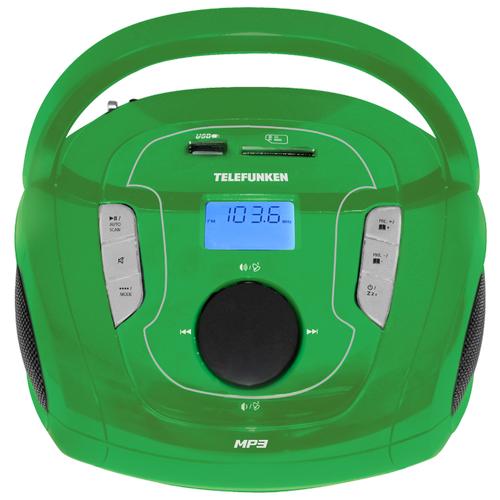 Магнитола TELEFUNKEN TF-SRP3471B зеленый магнитола telefunken tf srp3446
