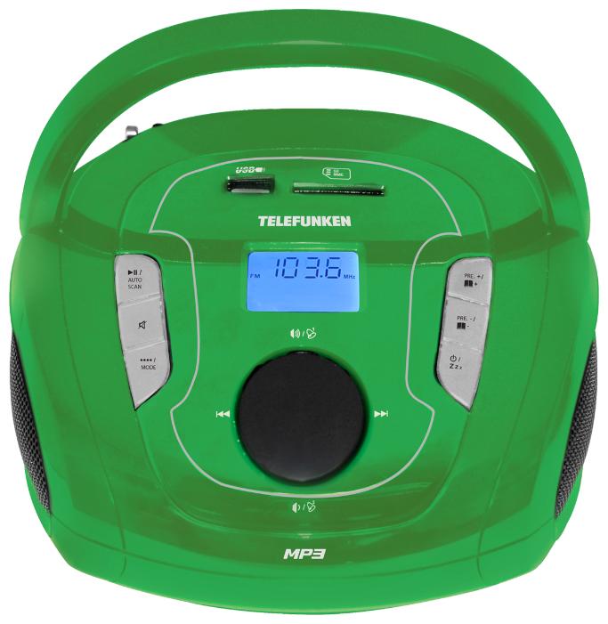 Купить Магнитола TELEFUNKEN TF-SRP3471B зеленый по низкой цене с доставкой из Яндекс.Маркета (бывший Беру)