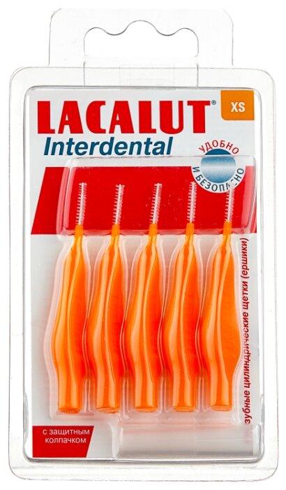 Зубной ершик Lacalut Interdental XS, оранжевый, 5 шт.