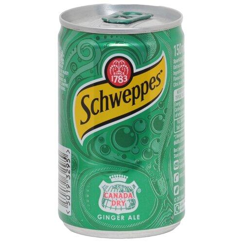 Газированный напиток Schweppes Ginger Ale, 0.15 л schweppes индиан тоник напиток сильногазированный 1 5 л