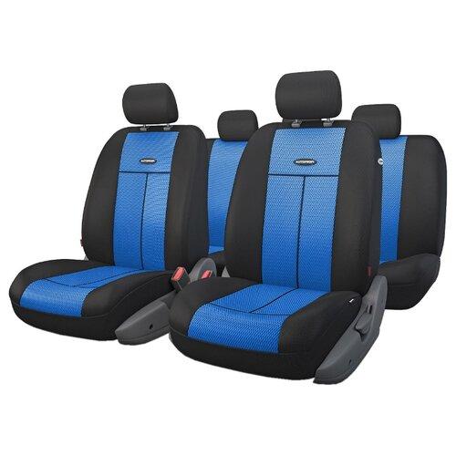 Комплект чехлов AUTOPROFI TT-902M черный/синий аксессуары для автомобиля autoprofi автомобильные чехлы tt airbag tt 902m 9 предметов