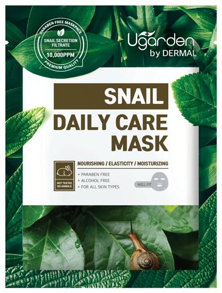 DERMAL Ugarden маска для лица с муцином улитки для ежедневного ухода