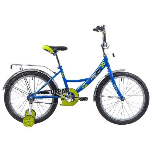 Фото - Детский велосипед Novatrack Urban 20 (2019) синий (требует финальной сборки) детский велосипед novatrack urban 16 2019 синий требует финальной сборки