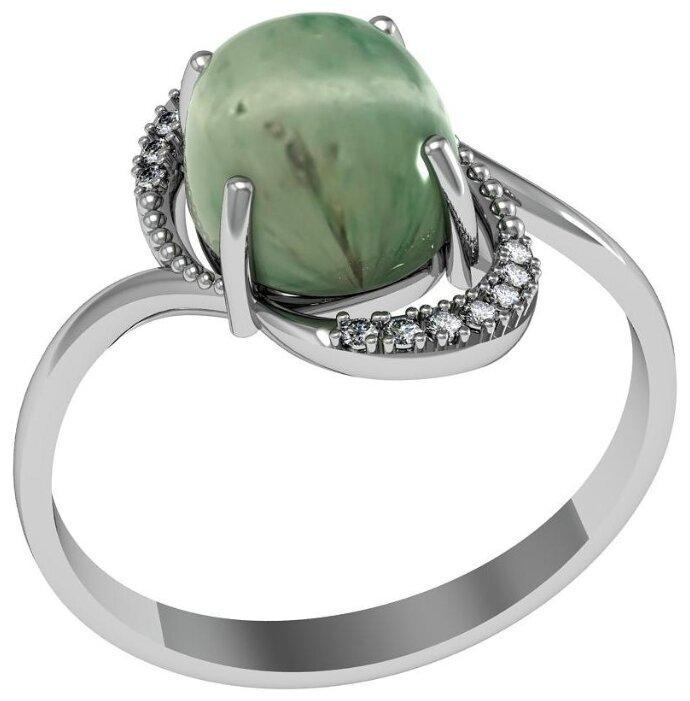 Золотые кольца с нефритом покупайте по низкой цене на Zolotie.com   701x690