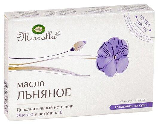 Капсулы Mirrolla льняное капс. 300 мг №100