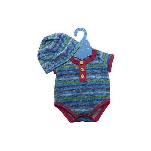 Купить Junfa toys Боди и шапочка для кукол 45 см синий, Одежда для кукол