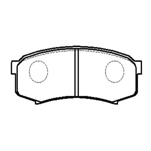 Фото - Дисковые тормозные колодки задние HONG SUNG BRAKE HP5037 для Toyota Land Cruiser (4 шт.) дисковые тормозные колодки задние nibk pn1519 для toyota corolla toyota auris 4 шт